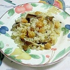 舞茸と帆立の炊き込みご飯~♫