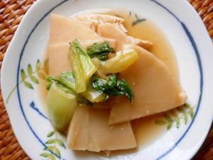 たけのこ・チンゲン菜の煮物