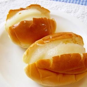 シュガーバター&梨のコンポートサンドパン