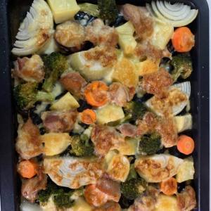 とりもも肉と野菜のオーブン焼き
