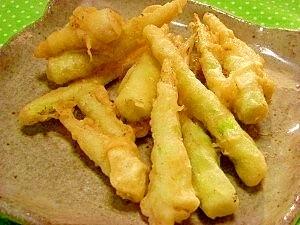 サクッと細竹の子の天ぷら