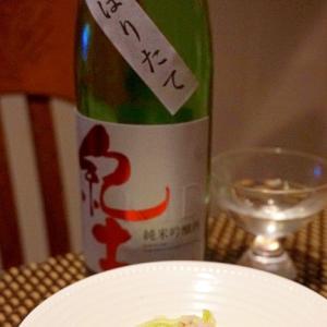 日本酒に白ワインに、蟹とキャベツのコールスロー