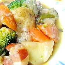 圧力鍋で☆材料は「1」の具だくさん野菜煮込み