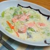 白菜と鮭のクリーム煮