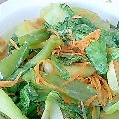 チンゲン菜と人参の簡単野菜炒め