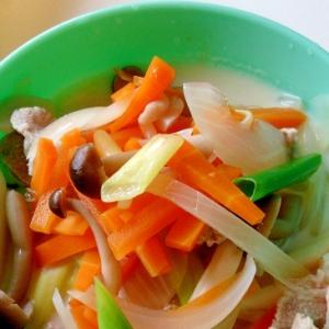 野菜たっぷり豆乳味噌ラーメン