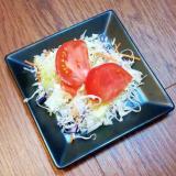 さっぱり☆塩レモンドレッシングの5種の野菜のサラダ