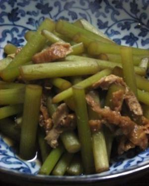 優しい味です つわぶきとアゲの炒め煮