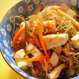 高野豆腐と刻み昆布の煮物