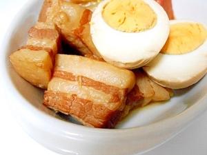 豚バラブロックで 角煮♪ ついでに味玉も❤