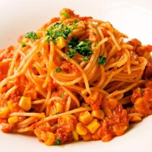 シーチキンとコーンの簡単トマトスパゲッティ♪
