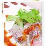 赤のドレッシングdeめで鯛サラダ
