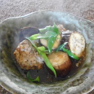 ナスと肉団子のとろみ煮