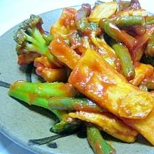 ありあわせの野菜で!高野豆腐のケチャップ炒め