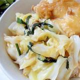鶏ももときゃべつと小葱のオイスターソース炒め丼