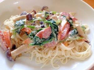 変わり素麺(=゚ω゚)ノカルボナーラ風