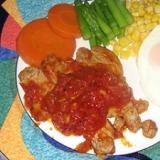 豚ヒレ肉の手作りガーリックトマトソテー