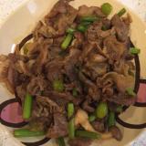 豚肉、銀杏、ニンニクの芽の味噌炒め