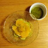 伊予柑とキウイのバジルサラダ