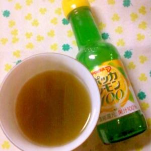 ☆ホットでもアイスでも☆レモンオレンジ緑茶☆*:・