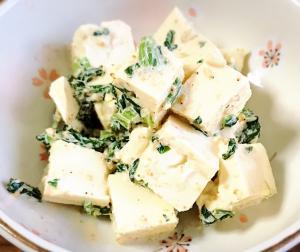 豆腐のごまマヨネーズ和え