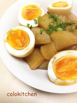 味しみ大根とゆで卵のこってり煮