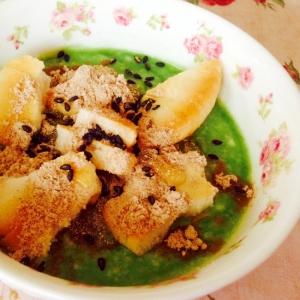 塩煎餅ときな粉の青汁ヨーグルト