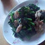 10分で簡単★ほうれん草と豚肉の生姜炒め