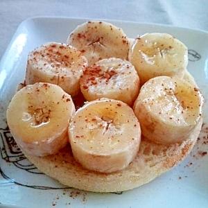 バナナとメープルのマフィントースト