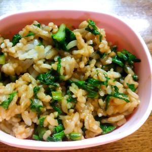 大葉みそと小松菜の炒めご飯
