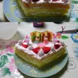 いちごホイップDEひな祭りケーキ