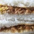納豆とツナのサンドウィッチ