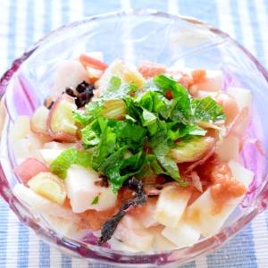 5分で簡単!サッパリ!長芋と香味野菜の梅和え