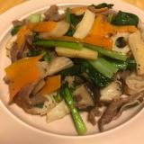 小松菜と豚肉の生姜焼き