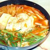 ピリ辛!スンドゥブチゲ風!牛肉と白菜の辛味噌鍋♪