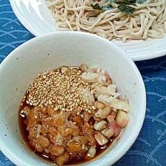 納豆の食べ方-ざるそば♪