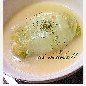 白菜の豆腐ロールクリーム煮