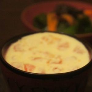 豆乳ではんなりふるふる、トマトの和風フラン