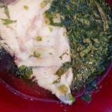 真鯛のレンチンピリ辛スープ