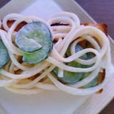 素麺と胡瓜のサラダトースト