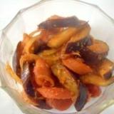弁当用:茄子とウインナーのケチャップ炒め