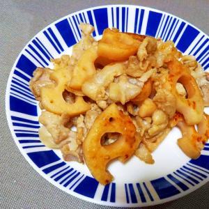 豚肉とレンコンの中華炒め++