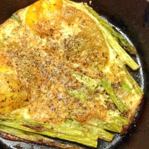 アスパラガス卵焼き