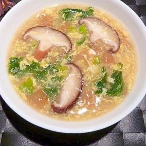クエン酸で健康対策!梅干しの☆とろとろ卵スープ