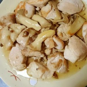 簡単ヘルシー☆鶏肉ときのこのココナッツシュガー炒め