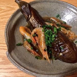 茄子と煮干し海老の煮物