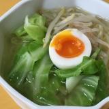 【簡単】野菜たっぷり塩ラーメン