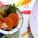 彩野菜の揚げ漬け