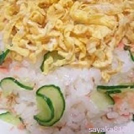鮭フレークときゅうりの簡単♪混ぜ寿司