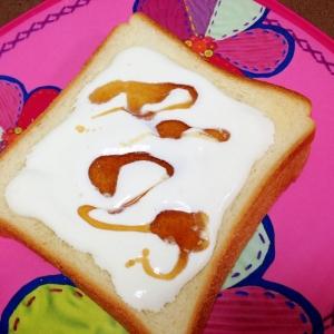 おやつトースト☆メープルホイップトースト